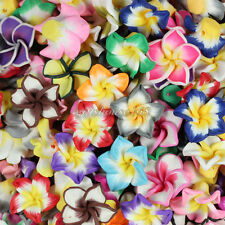 Hot Sale! 20mm Mixed Polymer Fimo Clay 5-leaves Flower Spacer Loose Beads 100pcs