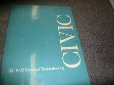 1992 Honda Civic Wiring Electrical Troubleshooting Diagram Manual ETM EWD OEM