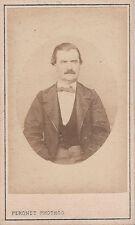 Photo carte de visite : Peronet ; Portrait de François Maurice Arnal , vers 1865