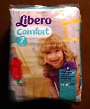 NEW Sealed Package Non-Vintage 21 Pack Libero Comfort Size 7 Baby ABDL Diapers