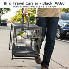 Portable Durable Bird Parrot Pet Carry Travel Cage Carrier Perch Feeder #A60