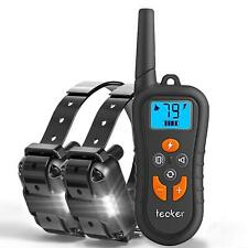 Dog Training Collar 2 Dogs, Shock Collar with Remote 1800ft Rechargeable IP67 Wa
