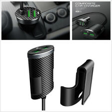 4 Ports 5.1A Carbon Fiber Pattern Car Charger USB Fast Adapter For Phone GPS PSP