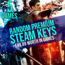 5 Premium Random Steam Keys - +£49.99 Worth In Games