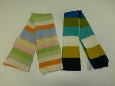 2 Womens Old Navy Striped Crocheted Scarf New & Wool Blend Scarf Good Condition