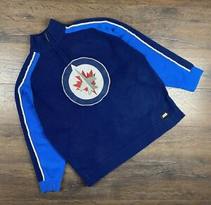 Men's Vintage Winnipeg Jets NHL Sweatshirt 1/4 Sweater size XL