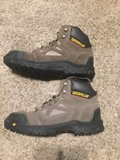 Caterpillar Plan Work Boots - Safety Steel Toe, Leather 9.5