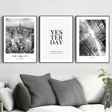 Nordic City Poster Canvas Painting Building Canvas Prints Poster Black and White