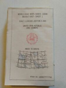 Middle East Road Maps Series 1304W Series 1-5. Army Map Services Army Issued-New