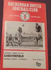 Rotherham United v Chesterfield, 3 Mars 1973