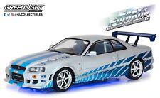 GreenLight 1/18 Fast & Furious 2 1999 Nissan Skyline GT-R (R34) Blue 19041