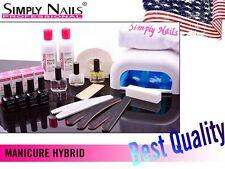 Simply Nails Starter Kit Set Hybrid Manicure UV Lamp nails polish file 19 arts