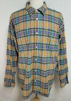 Carbon 2 Cobalt Mens sz 2XL Orange Blue Striped Long Sleeve Button Up Shirt
