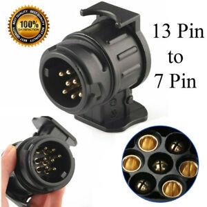 13 to 7 Pin Plug Trailer Truck Waterproof Electric Adapter Towbar Towing Socket