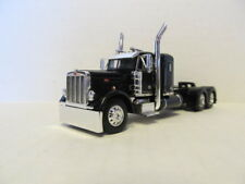 DCP 1/64 SCALE 379 PETERBILT SMALL BUNK SLEEPER, BLACK, DOUBLE HUMP REAR FENDERS