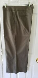 Ann Taylor Loft Womens Wide Leg Relaxed Fit Olive Green Cropped Pants Sz 14 NWOT