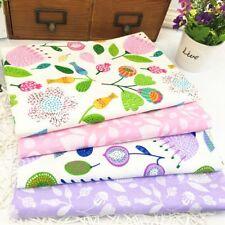 4pcs 100% Cotton Fabric Floral Sewing Textile Baby Clothing Pillowcase Bag DIY