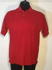 Perlis Mens Large Polo Shirt Short Sleeve Embroidered Crawfish Red Cotton 0174