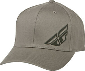 FLY F-WING HAT GREY HEATHER LG/XL