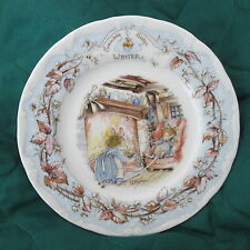 BRAMBLEY HEDGE Afternoon Tea plate ROYAL DOULTON Bone China WINTER Made England