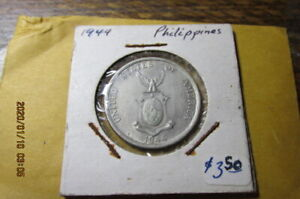 PHILIPPINES COIN  1944     50  CENTAVOS  IN DEALER PACKET