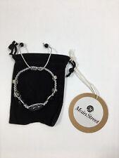 26 Main Street - Adjustable Bead and Charm Macrame Bracelet