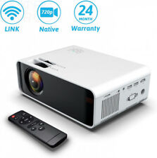Wireless Projector, YONTEX WIFI 4500Lumes 720P Home Cinema WHITE-AN10