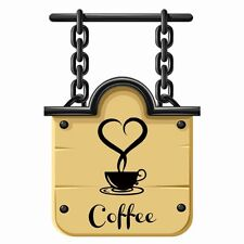 New Coffee Cup Sticker Decal Cafe Restaurant Kitchen Wall Window Decor 2016