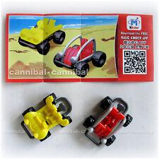 ~ KINDER Joy - Surprise Eggs Toy - FT058A, FT060A - set of 2 BEACH SUV cars