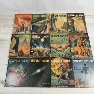Astounding Science Fiction 1947 Complete year Jan - Dec 12 issues