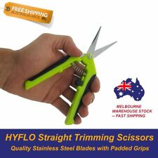 Straight Blade Trimming Scissors Hydroponics Harvest Spring Loaded