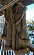 Audin Shearling Lambskin with Coyote & Fox Fur Trim Coat/Jacket S-M