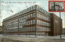 Marlboro Marlborough MA R&H Main St. Factory c1910 Postcard