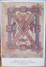 Irish Postcard EVANGELISTS SYMBOLS Book of Kells Ireland Dublin Trinity College