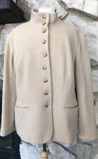RALPH LAUREN Beige Off White Wool Blend Button Down Lined Jacket 20W 2X