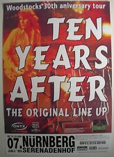 Ten Years After Concert Tour Poster 1999 Alvin Lee