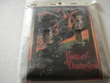 HARLEY DAVIDSON METAL (STURDY) DOUBLE  SWITCH PLATE COVER, NEW