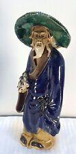 Antique Shekwan Scholar / Sage Mudmen Figure 1890-1919 China Excellent Condition