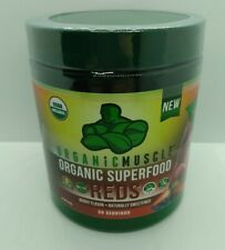 Organic Muscle Organic Superfood Reds Berry Flavor 30 Servings EXP 8/2021