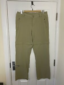 The North Face Womens Convertible Hiking Short Trousers Zip Beige Size 12