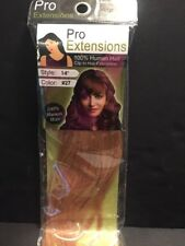 """Pro Extensions 14"""" Color #27 100% Human Hair Clip-in Extensions Volumizer"""