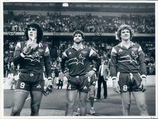 1983 Press Photo Kansas City Comets Soccer Yilmaz Orhan G Makowski Tim Clark