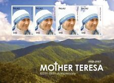 Palau- Mother Teresa 100th Birthday Anniversary Stamp Sheet of 4 MNH