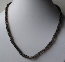 Wunderschone facettierte Rauchquarz Halskette