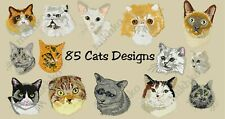 MACHINE EMBROIDERY DESIGNS - 85 CATS EMBROIDERY DESIGNS - PES DST JEF FORMATS