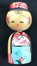 Old Vintage Japanese Wooden Doll Bobble Head Kokeshi Nodder