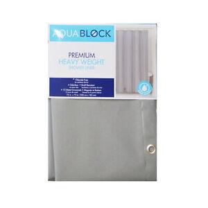 "Premium Heavy Weight 10 Gauge Shower Curtain Liner: Mildew Resistant, 72"" x 72"""