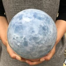 13LB Natural Magic Blue Calcite Quartz Sphere Crystal Ball Healing 162mm ZQ1051