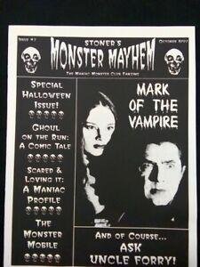 Stoner's Monster Mayhem MINT #7 Issue 1997 Magazine Halloween Monsters Horror