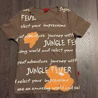 """T-Shirt von ZAGORA , Gr. 38, 100% Baumwolle , """"JUNGLE FEVER"""", Top Zustand!"""